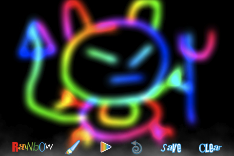 Screenshot RainbowDoodle – Animated rainbow glow effect